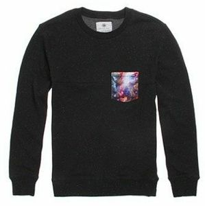 PACSUN▪Black Blocked Sweater with Galaxy Pocket