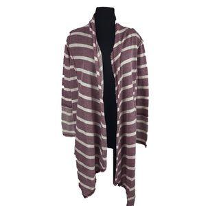Eyeshadow draped Baja cardigan sweater
