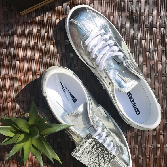 343a6ac421dfe Converse Breakpoint Metallic Pure Silver Sneakers