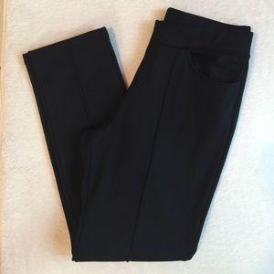 Pants - Black Ponte Knit Seamed Pants