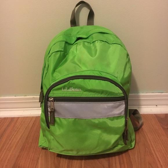 L.L. Bean Handbags - Lime green L. L. Bean backpack a74104af0