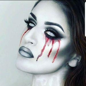 Halloween Crazy Manson Zombie White Eye Color