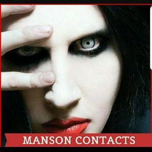 Halloween Crazy Manson Cosplay White Eye Color