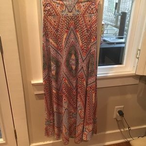 Renee C. Colorful pattern maxi skirt