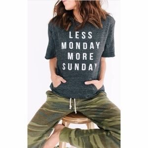 Tops - | less monday more sunday hoodie |