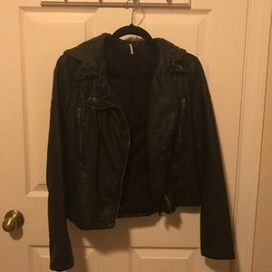 Free people faux leather jacket- size 8