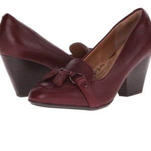 Sofft tassel block heels