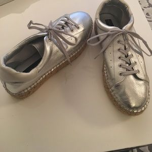 8ea5c7d8f54 Steven By Steve Madden Shoes - Steve Madden Pace sneakers in Silver size 8
