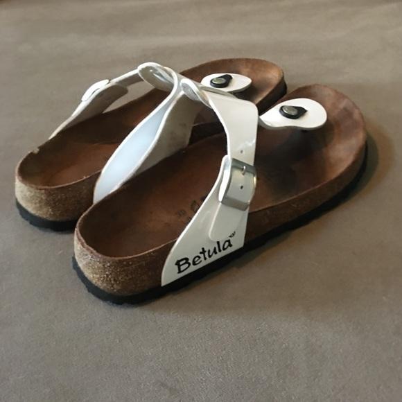 ee0ba9a83f20 Birkenstock White Leather Betula Sandals Size 39