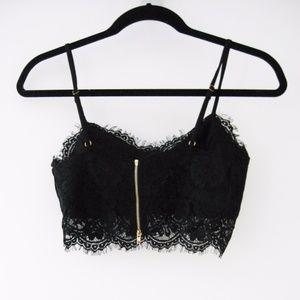 bfce249066081 Missguided Intimates   Sleepwear - Missguided Neilina Black Eyelash Lace  Bralet ...