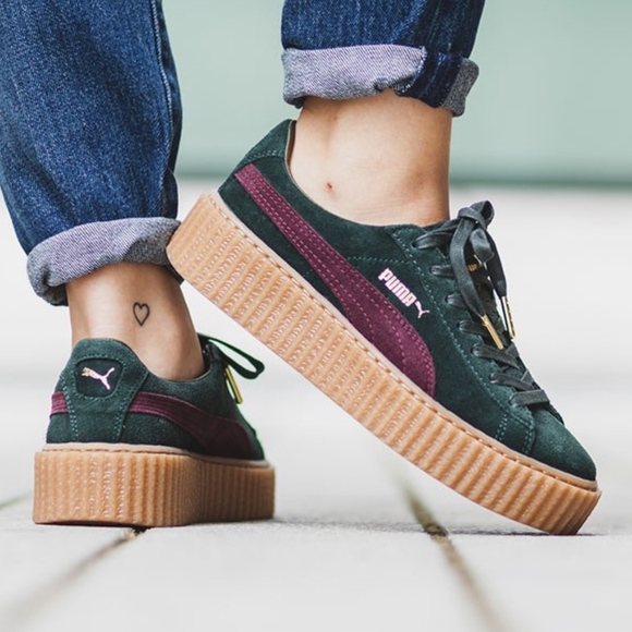 2bcde8ce91d Puma fenty creepers in olive green