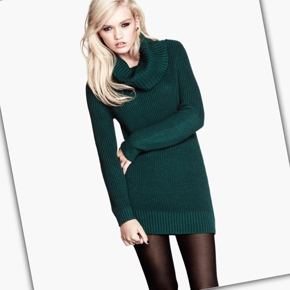 cc3239758b5c H M Sweaters - Hunter Green Long Sleeve Ribbed Turtleneck Sweater