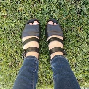 Shoes - ✨Marie Claire Black Wedges