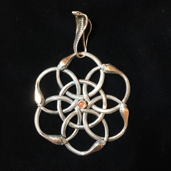 Anthropologie jewelry flower of life serpent pendant never ending flower of life serpent pendant never ending story mozeypictures Choice Image