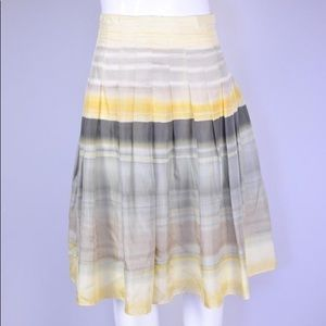 THEORY Daffodil Ombre Angelina Silk Skirt 12