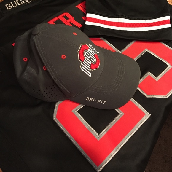 detailed pictures 5d31a 24454 ... official store nike dri fit ohio state sideline fitted hat 9ad82 a5e9a