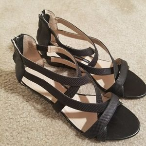 French Connection Black Sandals, Size 7.5