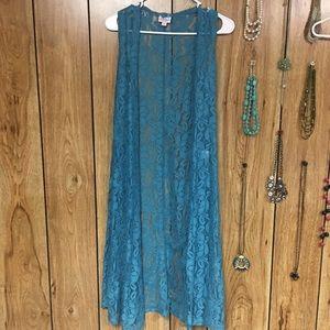 LuLaRoe turquoise lace joy