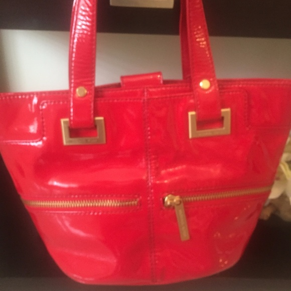 Michael Kors Red Patent Leather Purse