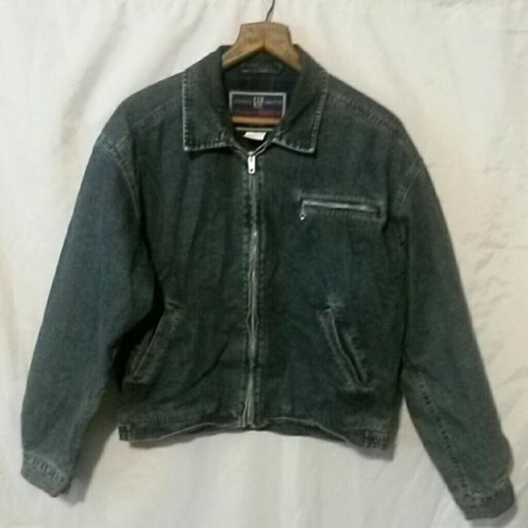 86% off GAP Jackets & Blazers - Vintage gap flannel lined Jean ...