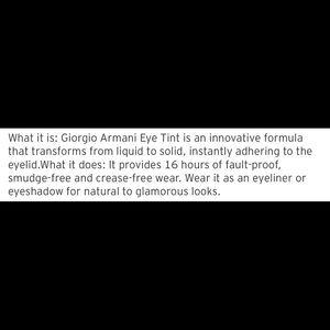 Giorgio Armani Makeup - Giorgio Armani eye tint