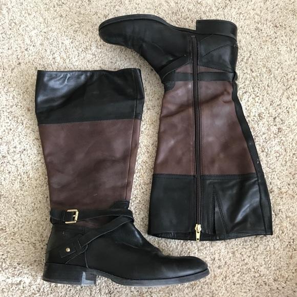 a128ce984e5 Black/brown Wide Calf Boots
