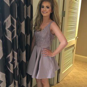 Bebe Nirvana Beaded & Sequined Flare Dress Size 4