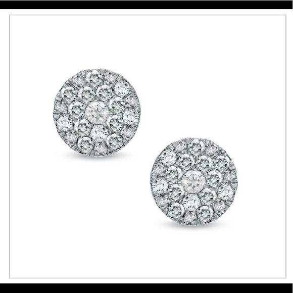 7eccd9300 Zales Jewelry | 2 Ct Diamond Stud Earrings W Original Receipt | Poshmark