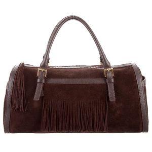 RARE Burberry Suede Fringe Bag