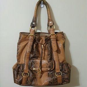 IMAN Global Chic City Tote Signature Handbag