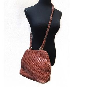 Cute braided leather vintage cross body bag
