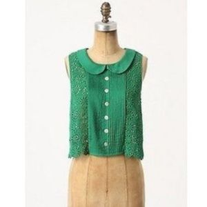 Anthropology - Plenty by Tracy Reese green top
