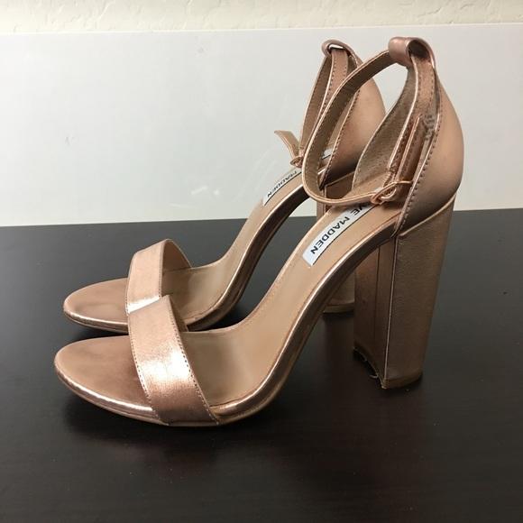 932bace500b5 STEVE MADDEN CARRSON ROSE GOLD CHUNKY HEEL 8. M 59cef8e9981829e640030d73.  Other Shoes ...