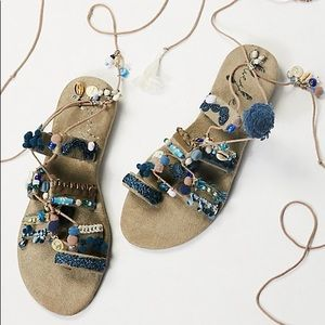 57fb23c4d8785b Free People Shoes - 🌙Free People Fools Gold Wrap Sandals