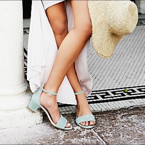 Free People Shoes - ❗️FINAL PRICE❗️Free People block heel blue green