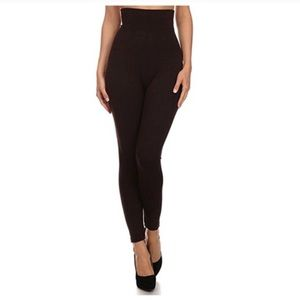 Pants - Compression Legging with French Terry Lining