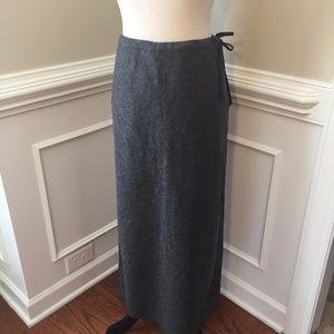 J. Crew Maxi Skirt Gray Size 10 wool blend