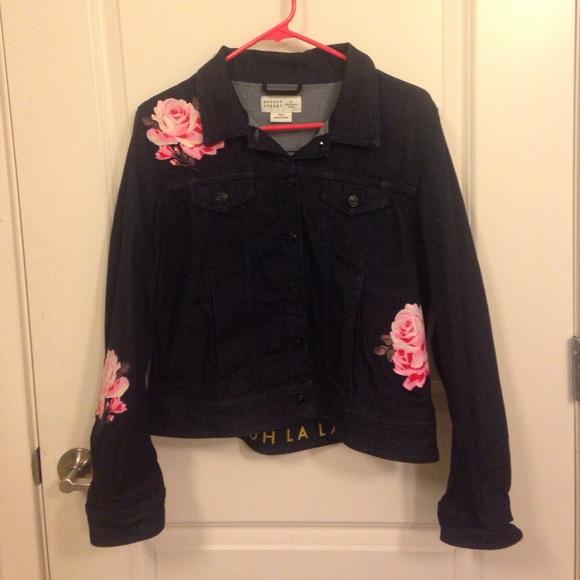 76a4f4b78b kate spade Jackets   Blazers - Kate Spade Rose Denim Jacket