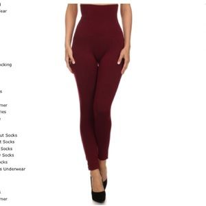 Pants - Compression Leggings with French Terry Lining