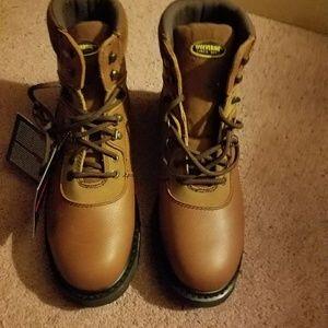 Men's tan work boots