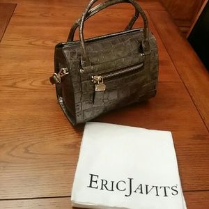 🆕Eric Javits Lil Zip Loaf leather satchel