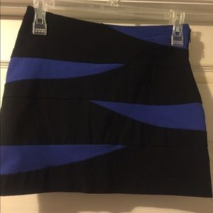 Dresses & Skirts - Black And Blue Mini Skirt, M.
