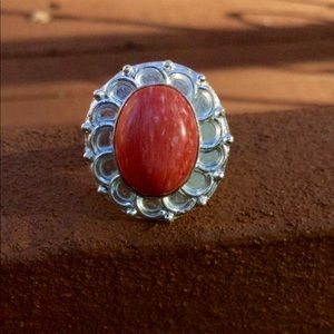 Jewelry - ⚜️Red Coral Ring Size 7.5⚜️