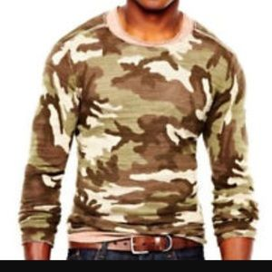 William Rast Lightweight Camo Sweater