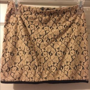 Dresses & Skirts - Beige And Black Lace Mini Skirt, S.