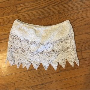 Cotton Candy Lace Tube Top - Small
