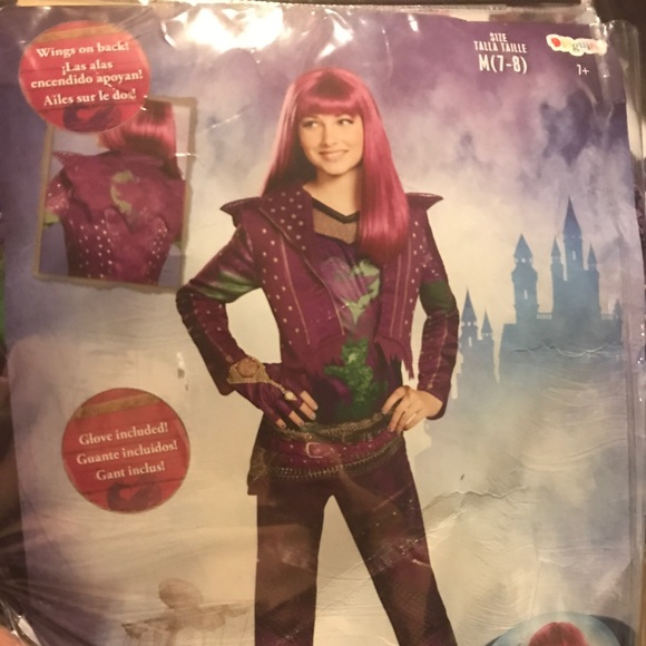 Mal Disney Descendants 2 Halloween costume New NWT