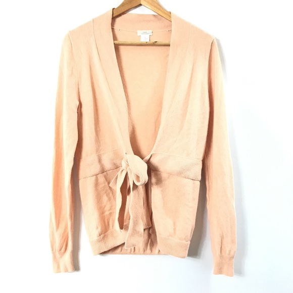 73% off J. Crew Sweaters - J. Crew Peach Cashmere Cardigan Size ...