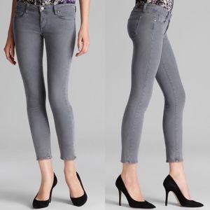 Paige Skyline Ankle Peg Grey Crop Skinny Jeans