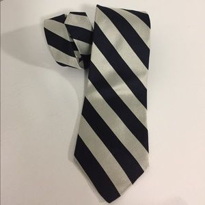 Tie rooster all Silk striped Made in the U S A